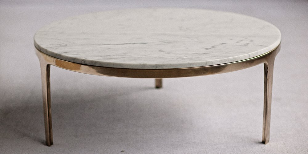 Catapult Coffee Side Table Bronze Round Coffee Table