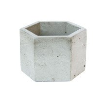 Concrete Hex Planter