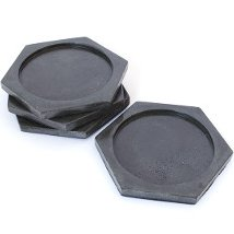 Concrete Hexie Coaster Set