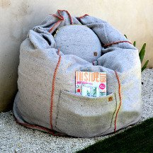 Recycled Wool Bean Bag